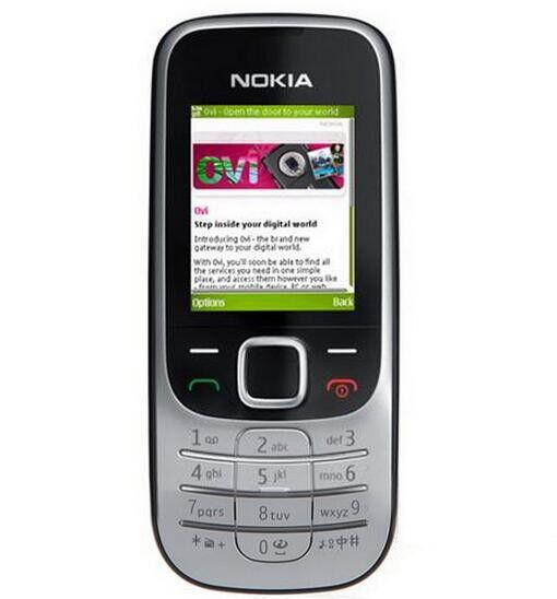 Unlocked Nokia 2330 classic  FM radio Bar Cell Phone Free Shipping Black