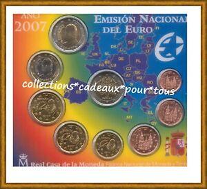 ESPAGNE Coffret BU 2007 - 9 monnaies dont 2 Euro 50 Ans du Traité de Rome