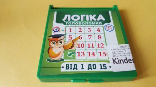 Das Spiel der Fünfzehn  mit 15 Steinen zum schieben  Игра /'Пятнашки/'