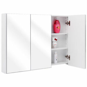 Tangkula 36 Wide Wall Mount Mirrored Bathroom Medicine Cabinet Storage 3  Mirror