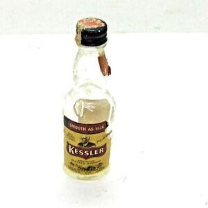 Kessler American Blended Whiskey Mini Miniature Airplane Bottle 1/10 Pint Empty