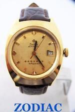 18k Gold Plated ZODIAC 7 Star ARGENT Watch c.1970s Cal.72B* EXLNT* SERVICED