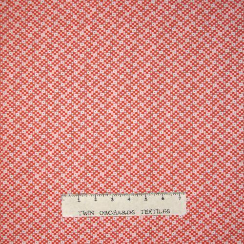 Cotton YARD Vintage Reproduction Tangerine Orange Checker Calico Fabric