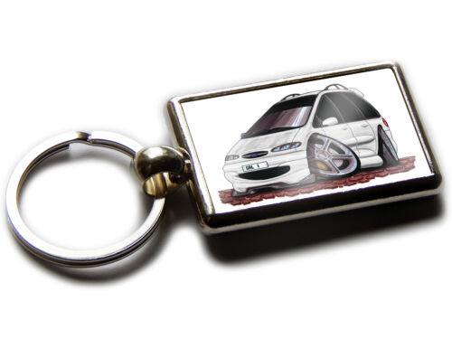 FORD GALAXY MPV Car Koolart Chrome Keyring Picture Both Sides