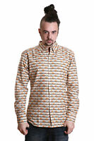 Mens New Retro Vintage 60s 70s Indie Elephants Long Sleeve Shirt