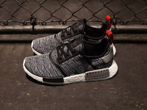 a2fb99efb ADIDAS NMD R1 SHOES CORE BLACK GREY GLITCH CAMO BB2884 US MENS SZ 4 ...