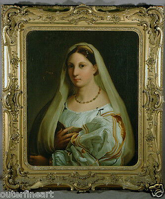 """18th Century European Oil Painting of """"Young Maiden"""""""