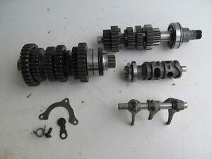 2004-04-CBR-600-RR-CBR600-CBR600RR-TRANSMISSION-GEARS-FORKS-DRUM