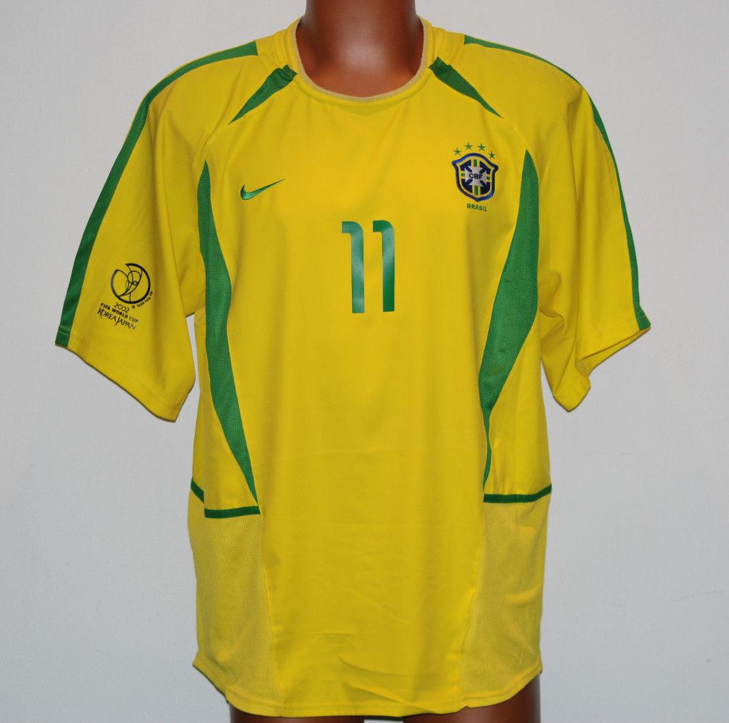 Maglia camiseta Ronaldinho brasil World Cup 2002 home shirt jersey Japan NIKE L
