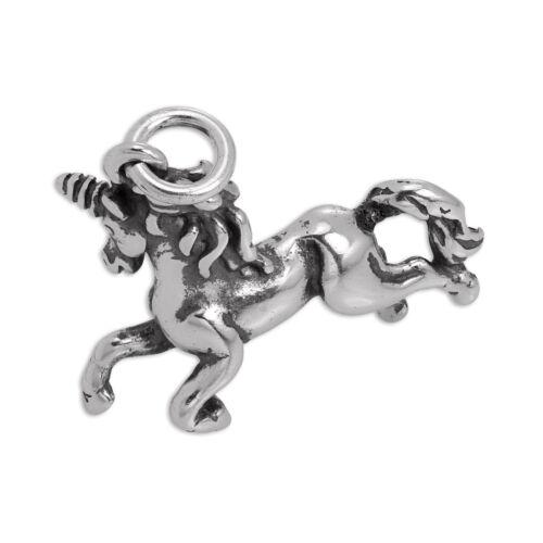 Plata Esterlina Prancing Unicorn encanto