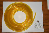 Honda 50 Express Moped Carburetor Gas 3/16 Fuel Line Yellow 5ft And 15 Clamps