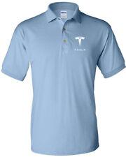 0e0cac4a item 7 TESLA Men's T-Shirt TESLA MEN'S White LOGO POLO T-Shirt -TESLA Men's  T-Shirt TESLA MEN'S White LOGO POLO T-Shirt
