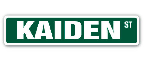 Indoor//Outdoor KAIDEN Street Sign Childrens Name Room Decal