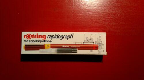 Rotring Rapidograph verschiedene Tuschefüller 0,13-2,0mm Neu
