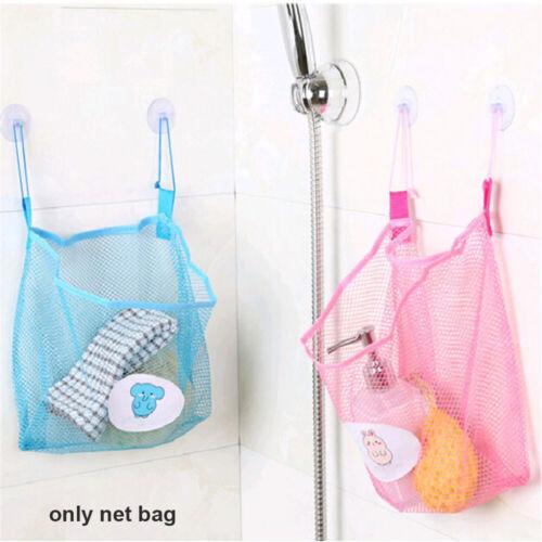 Kitchen Bath Toys  Bathroom Organizer Mesh Bag Net Holder Baby Shower Storage