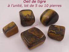 PIERRE POLIE OEIL DE TIGRE - LOT 1  5  10 PIERRES - PROTECTION - LITHOTHERAPIE