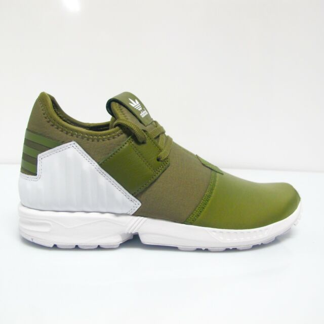 big sale e8f53 1fe5e adidas Originals ZX Flux Plus Olive Green Mens Trainers Bootee Style S79062  UK 10