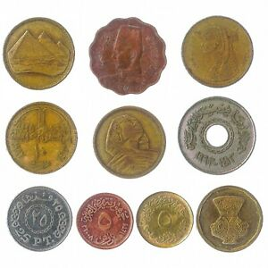 COINS-FROM-ARAB-REPUBLIC-OF-EGYPT-OLD-COLLECTIBLE-COINS-EGYPTIAN-PIASTRES-POUND