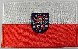 Thueringen-Aufnaeher-gestickt-Flagge-Fahne-Patch-Aufbuegler-6-5cm-neu