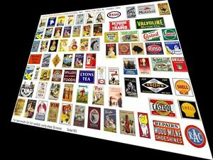 O-GAUGE-QUALITY-ADVERTISING-SIGNS-S8b-MODEL-RAILWAY-HORNBY-STATION-TOWN-LAYOUT