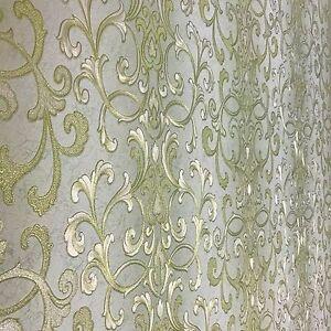 Image Is Loading Vinyl Embossed Wallpaper Textured Non Woven Modern Damask