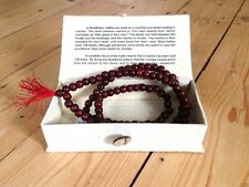 108 ROSEWOOD MALA FAIR TRADE GIFT BOX BUDDHISM MEDITATION JAPA HINDUISM PRAYER