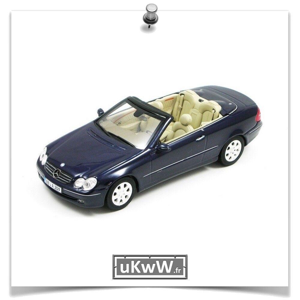 Minichamps 1 43 - Mercedes CLK cabriolet 2004 blue foncé métallisé