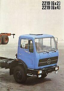 Poster-Prospekt-1978-Mercedes-Lkw-2219-6x2-6x4-12-78-brochure-truck-Lastwagen