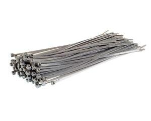 f6c652296301 100 SILVER CABLE TIES - Strong Nylon Plastic Straps Zip Tie Wraps ...