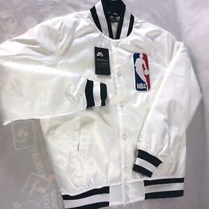 Details about Nike SB x NBA Satin Icon Bomber Jacket Men's Sz Small Starter Button Up NWT $120