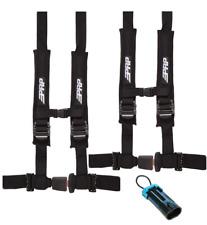 "PRP 2/"" 4 Point Green Harness Kit PAIR 4.2 w// Auto Style Latch  RZR X3 RS1 XP UTV"