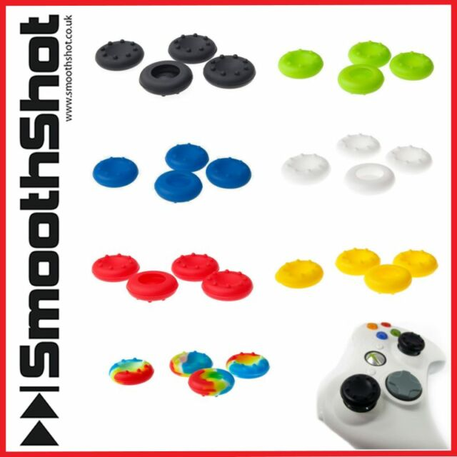 4 x THUMB GRIPS PS4 XBOX ONE 360 PS3 CONTROLLER THUMBSTICK COVERS RUBBER PADS