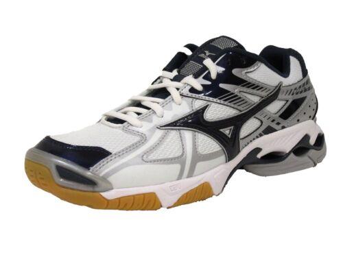 new product a6445 7eb11 blanc 9 pour 41969475621 marine Us 4 Wh Chaussure de femmes Mizuno 5 Bolt D  Wave ny bleu volleyball wxOEBTqv