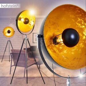 Design Scheinwerfer Stand Lampen Schwarz Gold Wohn Schlaf Büro Zimmer Leuchten