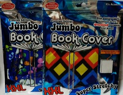 Buchhülle Bücher Energisch 2 Jumbo Buchdeckel Xxl Super Dehnbar Fits 25.4x38.1cm Und Weniger 1 Blumen & 1 Modern Und Elegant In Mode