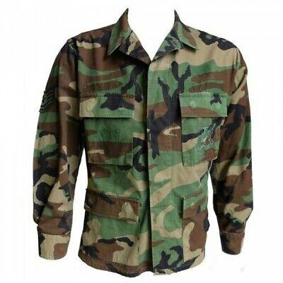 US Woodland Camo Jacket Shirt BDU Army Military Genuine Surplus