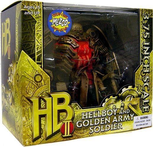 Hellboy 2 el ejército dorado Hellboy & Dorado Ejército Soldado Set Figuras De Acción
