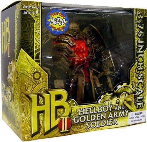 Hellboy 2 The Golden Army Hellboy /& Golden Army Soldier Action Figure Set