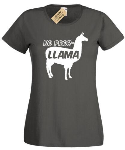 No Prob Llama T-Shirt womens Funny problem ladies