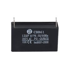Black 12uF Generator Capacitor Generator CBB61 12uF 50//60Hz 350VAC Fan Motor FOS