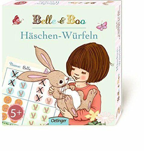 Belle und Boo Häschen-Würfeln JE 2x Spielblöcke Würfel Bleistifte Spiel Kinder