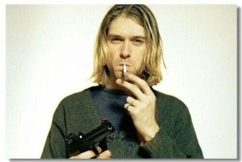 Poster Kurt Cobain Nirvana Pup Singer Star Room Art Wall Cloth Print 211