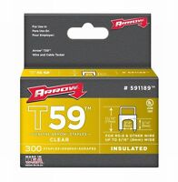 Arrow 591189 2 Pack 5/16in. X 5/16in. T59 Genuine Insulated Staples 300/box