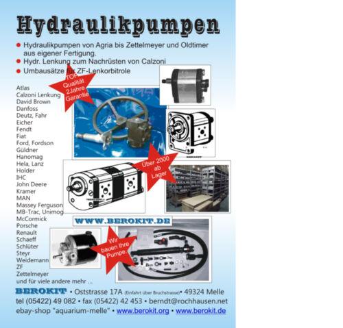 Deutz KHD Hydraulikpumpe mehr Leistung 17 statt 14ccm