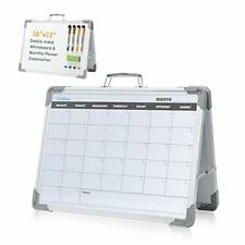 Dry Erase Whiteboard Monthly Calendar Small Double Sided White Board Gray