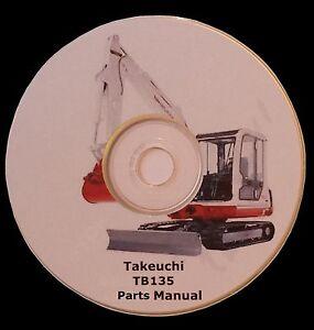 TAKEUCHI TB108 WORKSHOP MANUAL ON CD **FREE UK POSTAGE**