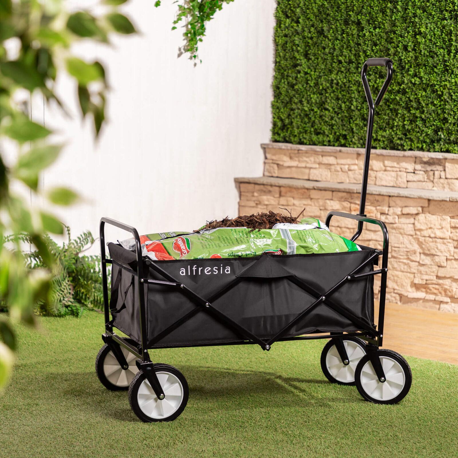 Folding Garden Festival Trolley - Heavy Duty Wheels & 80kg Load Capacity