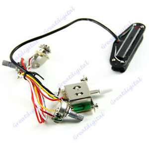 electric guitar jack pickup prewired wiring harness volume tone 3 rh ebay co uk