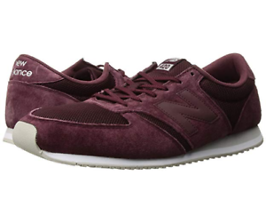 New Balance Men's 420 US 12 D Burgundy Suede & Mesh Sneakers shoes