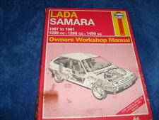 HAYNES LADA SAMARA MANUAL 1987 - 1991 1099cc, 1288cc, 1499cc. Petrol Engines